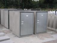 Müllbox / Müllschrank aus Beton 120l 2-Fach
